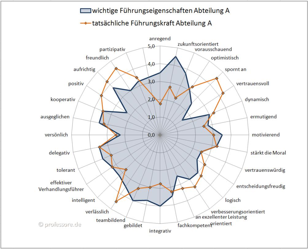 Best Fit Leadership-Ergebnis; Qelle: professore.de