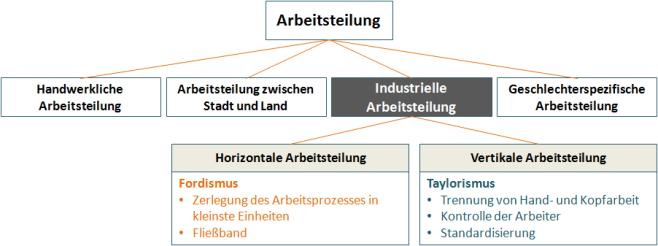 Schema Arbeitsteilung © professore.de